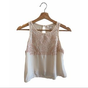 Forever 21 - Sleeveless Embroidered Top